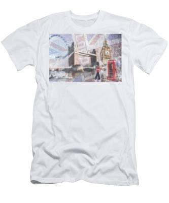 London Blue Men's T-Shirt (Athletic Fit)