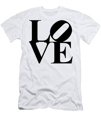 Love 20130707 Black White Men's T-Shirt (Athletic Fit)