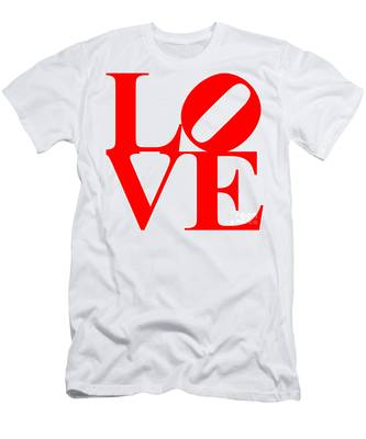 Love 20130707 Red White Men's T-Shirt (Athletic Fit)