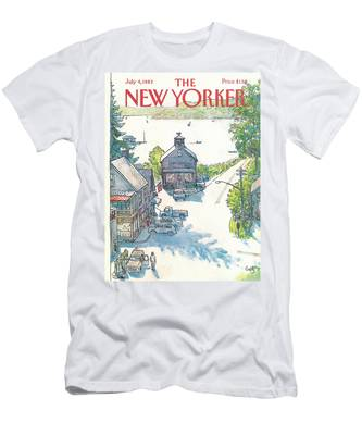 New Yorker July 4th, 1983 Men's T-Shirt (Athletic Fit)