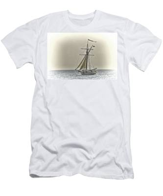 Sailing Off Men's T-Shirt (Athletic Fit)