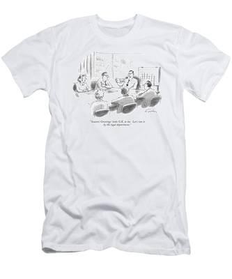 'season's Greetings' Looks O.k. To Me. Let's Run Men's T-Shirt (Athletic Fit)