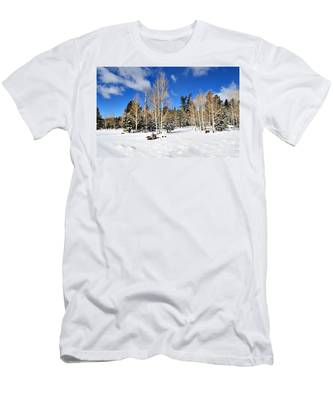 Snowy Aspen Grove Men's T-Shirt (Athletic Fit)