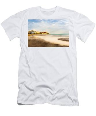 Take A Walk At The Beach Men's T-Shirt (Athletic Fit)