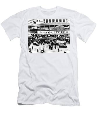 Men's T-Shirt (Athletic Fit) featuring the photograph Vintage Wrigley Field by Bill Cannon