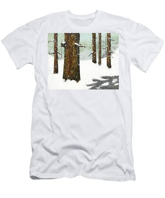Wintering Pines Men's T-Shirt (Athletic Fit)