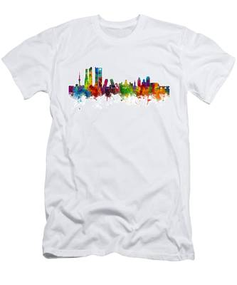 Madrid Spain Skyline Men's T-Shirt (Athletic Fit)