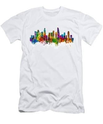 Los Angeles California Skyline Men's T-Shirt (Athletic Fit)