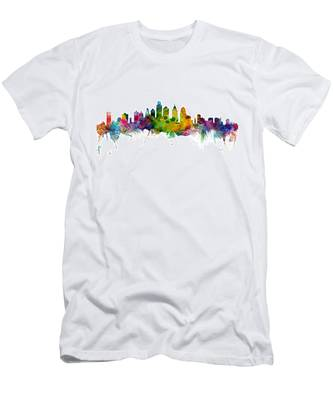 Philadelphia Pennsylvania Skyline Men's T-Shirt (Athletic Fit)