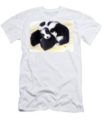 Australian Cattle Dog Puppies Men's T-Shirt (Athletic Fit)