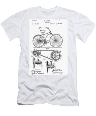 Men's T-Shirt (Athletic Fit) featuring the digital art Bicycle Patent 1890 by Bill Cannon