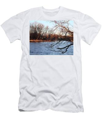 Branches Over Water Men's T-Shirt (Athletic Fit)