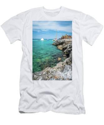 Coastline In Montego Bay Men's T-Shirt (Athletic Fit)