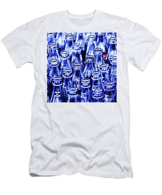 Coca-cola Coke Bottles - Return For Refund - Square - Painterly - Blue Men's T-Shirt (Athletic Fit)