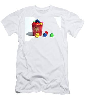 Coloured Baubles In A Pot Men's T-Shirt (Athletic Fit)