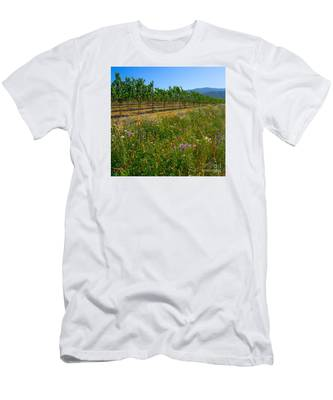 Country Wildflowers V Men's T-Shirt (Athletic Fit)