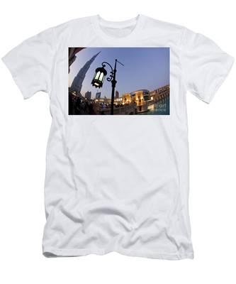 Men's T-Shirt (Athletic Fit) featuring the photograph Dubai Burj Khalifa by Juergen Held