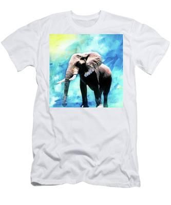 Oil painting elephant figure Short sleeve Woman T Shirt K229