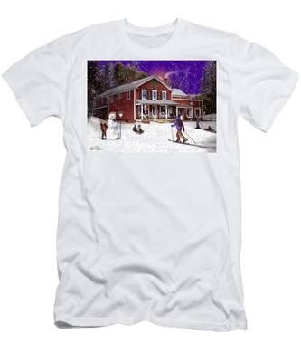First Snow At The South Woodstock Country Store Men's T-Shirt (Athletic Fit)