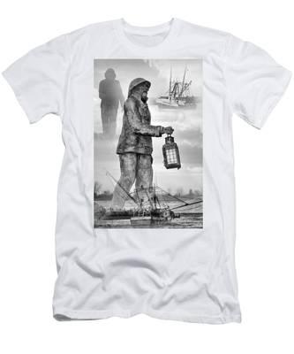 Fishermen - Jersey Shore Men's T-Shirt (Athletic Fit)