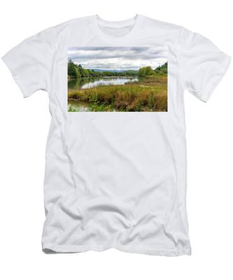 fort Clatsop on the Columbia River Men's T-Shirt (Athletic Fit)