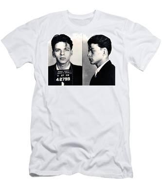 Frank Sinatra Mug Shot Horizontal Men's T-Shirt (Athletic Fit)