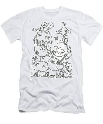 Gardening Monster Men's T-Shirt (Athletic Fit)
