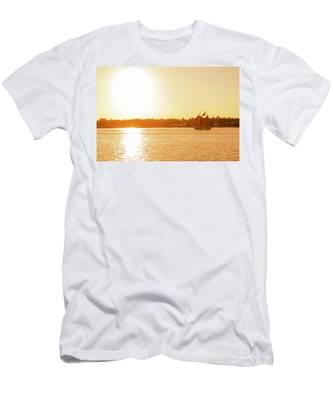 Golden Hour Sailing Ship Men's T-Shirt (Athletic Fit)