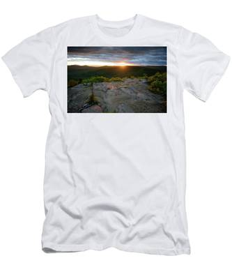 Men's T-Shirt (Athletic Fit) featuring the photograph Hadley Mountain Sunset by Brad Wenskoski