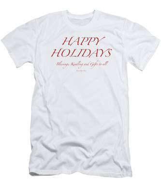 Happy Holidays - Day 8 Men's T-Shirt (Athletic Fit)