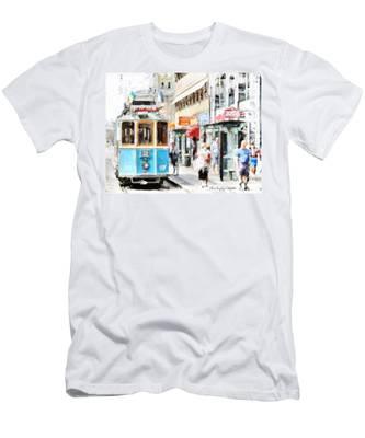 Historic Stockholm Tram Men's T-Shirt (Athletic Fit)