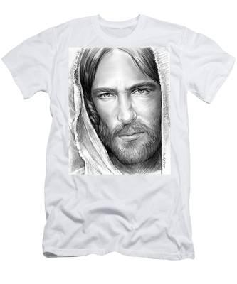Jesus Face Men's T-Shirt (Athletic Fit)