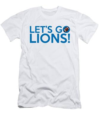 Let's Go Lions Men's T-Shirt (Athletic Fit)
