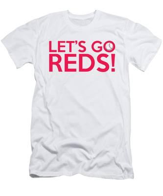 Let's Go Reds Men's T-Shirt (Athletic Fit)