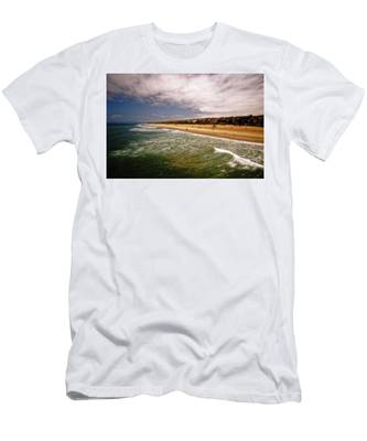 Manhattan Beach Surrealist Men's T-Shirt (Athletic Fit)