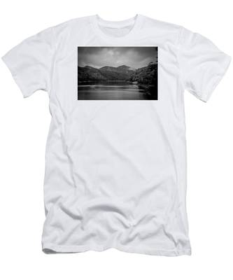 Nantahala River Great Smoky Mountains In Black And White Men's T-Shirt (Athletic Fit)