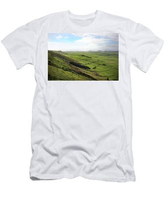 Over The Rim On Terceira Island, The Azores Men's T-Shirt (Athletic Fit)