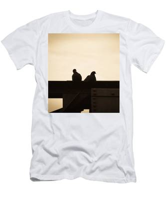 Pigeon And Steel Men's T-Shirt (Athletic Fit)