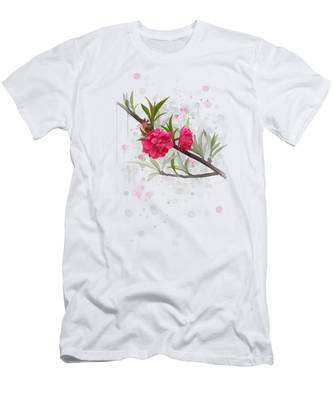 Hot Pink Blossom Men's T-Shirt (Athletic Fit)