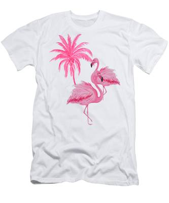 Pretty Flamingos Men's T-Shirt (Athletic Fit)