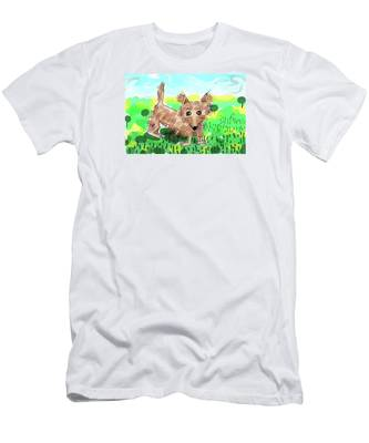 Men's T-Shirt (Athletic Fit) featuring the digital art Remy, Laird Of The Cairn by Teresa Epps