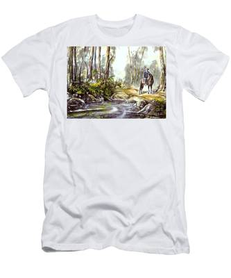 Rider By The Creek Men's T-Shirt (Athletic Fit)