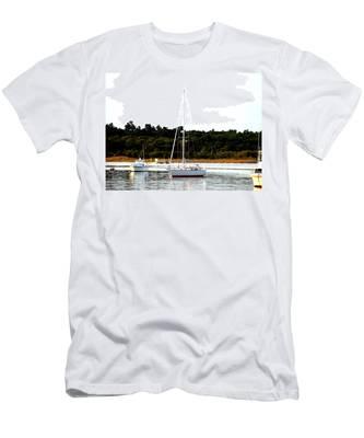 Sail Boat At Anchor  Men's T-Shirt (Athletic Fit)
