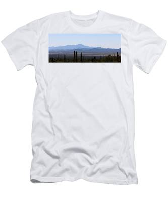 Men's T-Shirt (Athletic Fit) featuring the photograph Sonoran Desert Landscape  by Christy Pooschke