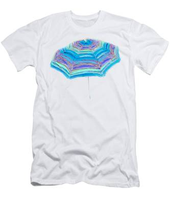 Striped Umbrella Men's T-Shirt (Athletic Fit)
