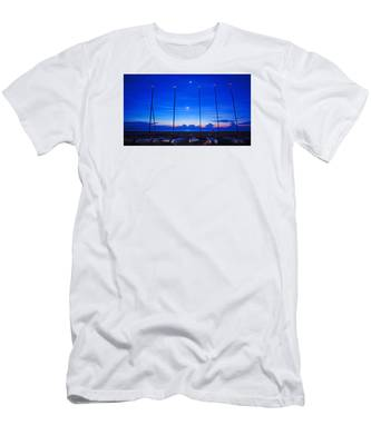 Sunrise Catamarans Moon Planets Men's T-Shirt (Athletic Fit)