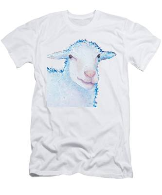 T-shirt With Sheep Design Men's T-Shirt (Athletic Fit)