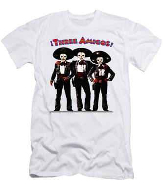 Men's T-Shirt (Athletic Fit) featuring the photograph Three Amigos - Day Of The Dead by Bill Cannon