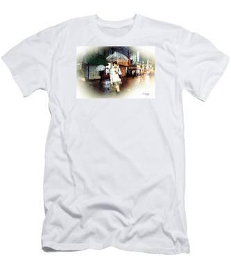 Rainy Tokyo Night Men's T-Shirt (Athletic Fit)
