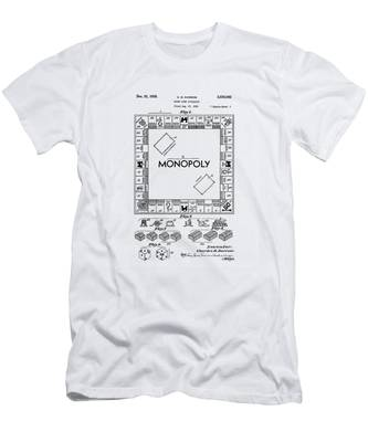 Men's T-Shirt (Athletic Fit) featuring the photograph Vintage Monopoly Patent 1935 by Bill Cannon